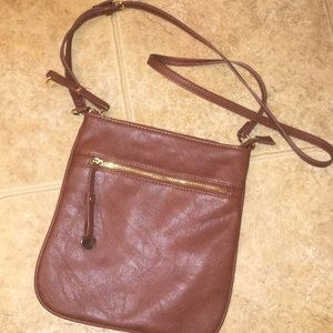Brown crossbody purse